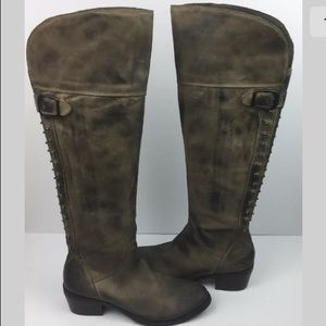 Vince Camuto Over the Knee Studded Boots
